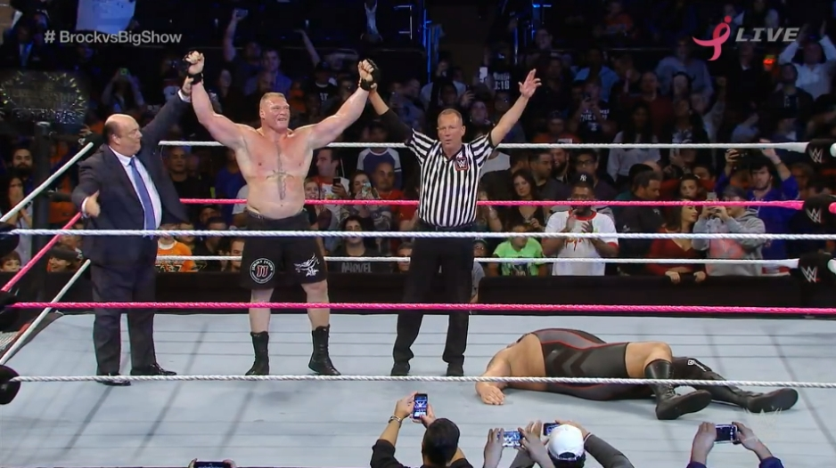 WWE: Brock Lesnar destruyó al Big Show en el Madison Square Garden