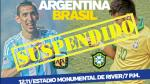 Argentina vs. Brasil suspendido por intensas lluvias [FOTOS Y VIDEOS] - Noticias de partido postergado