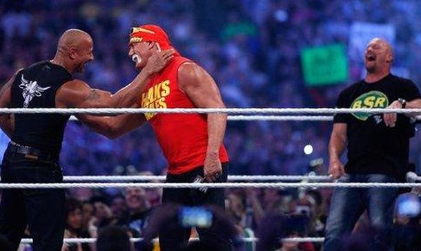 Hulk Hogan, 'Stone Cold' y 'The Rock' juntos, pero en 'The Expendables 4' (Foto: WWE)